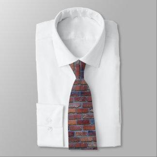 Mur de briques - briques et mortier mélangés cravates