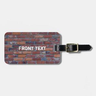 Mur de briques - briques et mortier mélangés étiquette à bagage