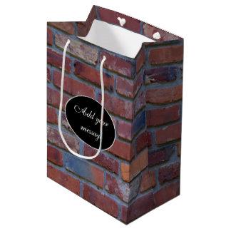 Mur de briques - briques et mortier mélangés sac cadeau moyen