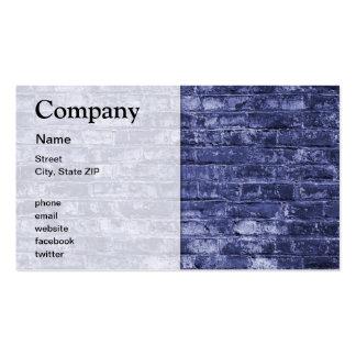 Mur de briques cartes de visite professionnelles