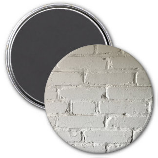 mur de briques de blanc de recoins et de fentes magnet rond 7,50 cm