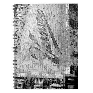 Mur de briques de cru d'Ann Arbor Michigan de mur Carnets
