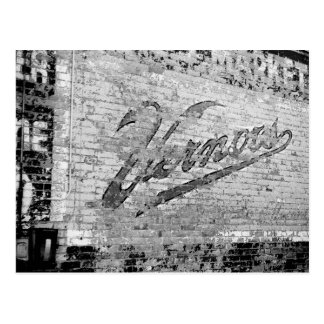 Mur de briques de cru d'Ann Arbor Michigan de mur Cartes Postales