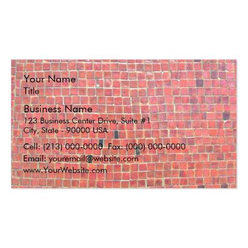 Mur de briques rouge âgé avec des variations cartes de visite professionnelles