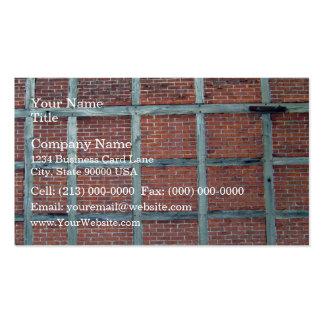 Mur de briques rouge avec les motifs carrés répéti modèle de carte de visite