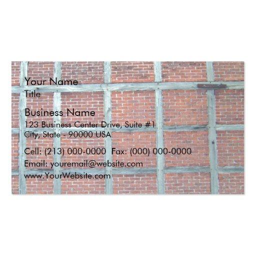 Mur de briques rouge avec les motifs carrés répéti cartes de visite professionnelles