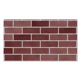 Mur de briques rouge cartes de visite professionnelles