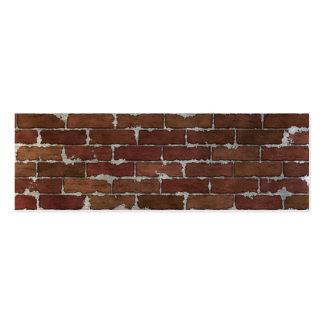 Mur de briques rouge carte de visite petit format