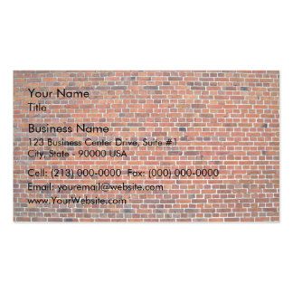 Mur de briques rouge et noir avec le mortier blanc carte de visite standard