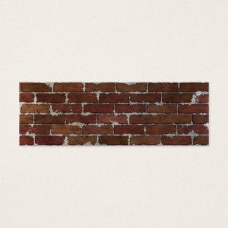 Mur de briques rouge mini carte de visite