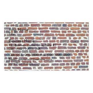 Mur de briques rouge moderne et ligne blanche text modèle de carte de visite