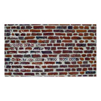 Mur de briques rouge moderne et ligne blanche text modèles de cartes de visite