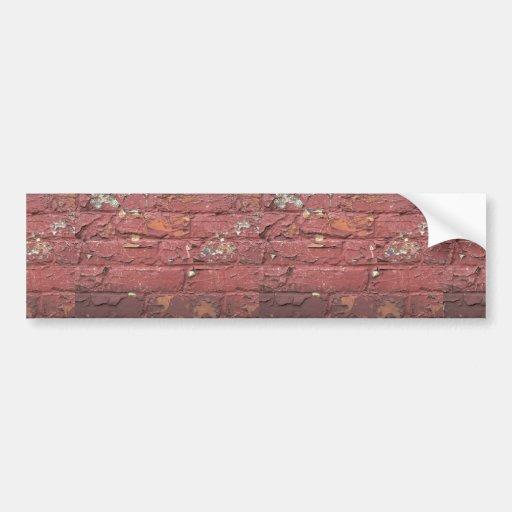 mur de briques rouge peinture br ch e adh sifs pour voiture zazzle. Black Bedroom Furniture Sets. Home Design Ideas