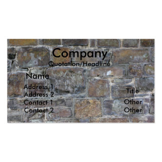 mur de constructeurs modèles de cartes de visite