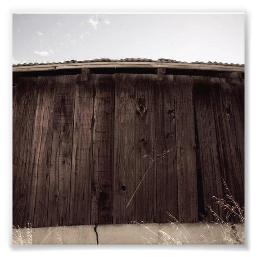 Mur en bois impression photographique