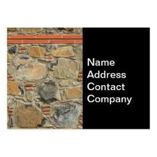 Mur en pierre carte de visite grand format