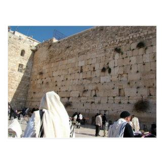 Mur occidental, Jérusalem Carte Postale