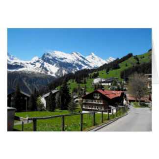 Murren, un villlage alpin cartes