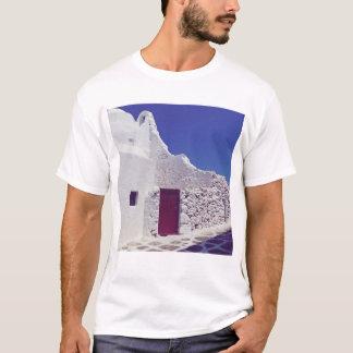 Murs blancs de T-shirt de Mykonos