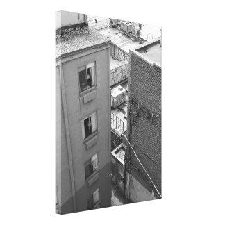 Murs de ville toiles tendues sur châssis