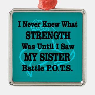 Muscle/I n'a jamais connu… la soeur Ornement Carré Argenté
