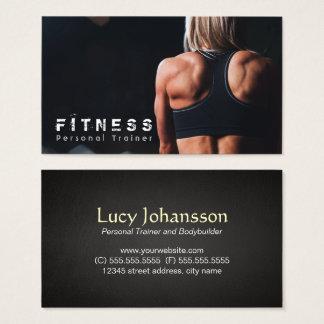 Muscle personnel d'entraîneur de forme physique cartes de visite