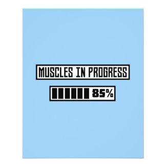 Muscles la séance d'entraînement en cours Z1l52 Prospectus 11,4 Cm X 14,2 Cm