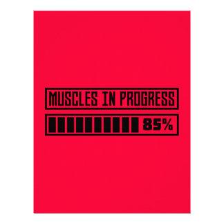 Muscles la séance d'entraînement en cours Z8gnr Prospectus 21,6 Cm X 24,94 Cm