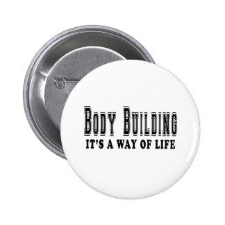 Musculation c'est mode de vie badges