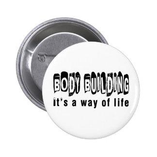 Musculation c'est un mode de vie badges