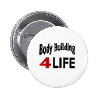 Musculation pendant la vie badge rond 5 cm