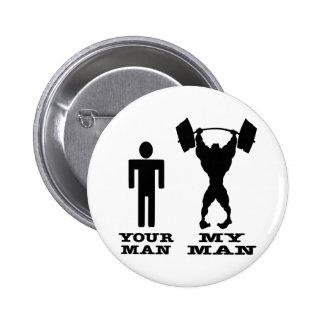 Musculation votre homme contre mon homme badge