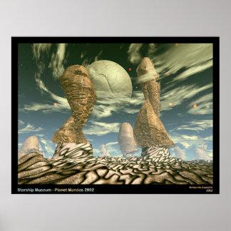 Musée de Starship - planète Mandos 2902 Poster