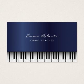 Musical de bleu royal de professeur de piano cartes de visite