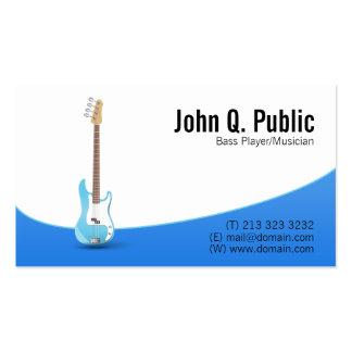 Musicien de guitariste de bassiste carte de visite standard