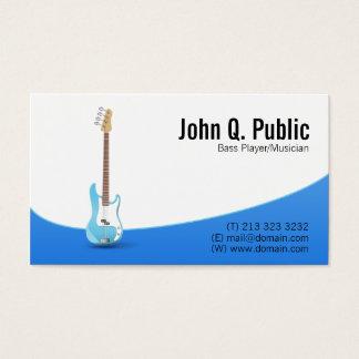 Musicien de guitariste de bassiste cartes de visite