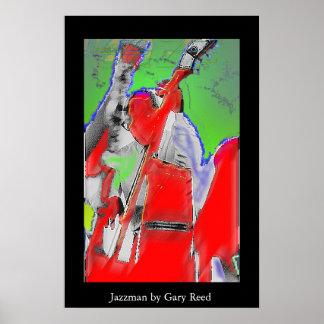 Musicien de jazz affiche