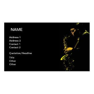Musicien de jazz carte de visite standard