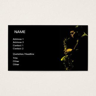 Musicien de jazz cartes de visite