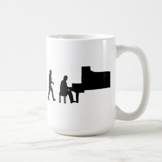 musicien de musique de pianiste de piano d'homme mug