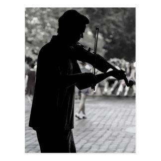 Musicien de rue de New York City Cartes Postales