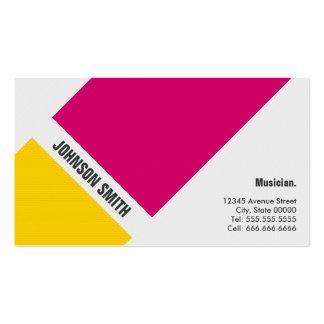 Musicien - jaune rose simple carte de visite standard