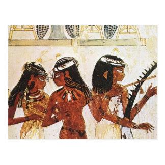 Musiciennes égyptiennes de femmes cartes postales