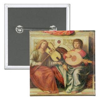 Musiciens d'ange de la peinture de la Vierge et Badges