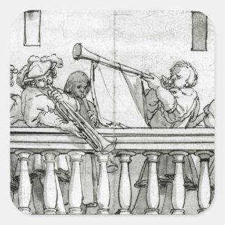 Musiciens de Henry VIII Stickers Carrés