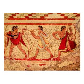 Musiciens d'Etruscan Carte Postale