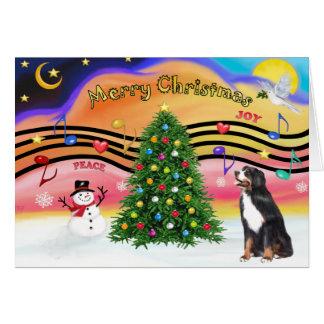 Musique 2 de Noël - chien de montagne de Bernese Cartes