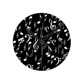 musique à mon coeur horloge ronde