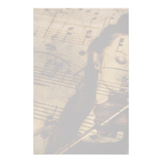 Musique Artsy de violon Papier À Lettre Personnalisé