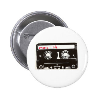 musique badge rond 5 cm